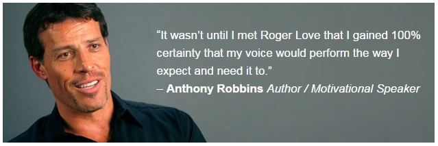 Tony Robbins testimonial voice training online course