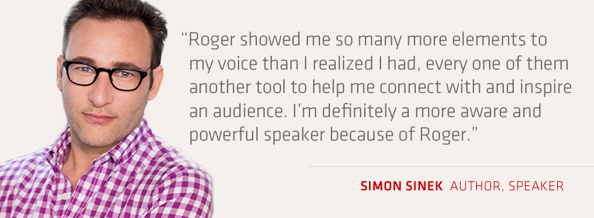 Simon Sinek testimonial voice training online course