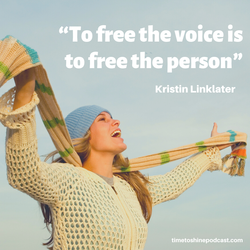 free voice free person quote Kristin Linklater