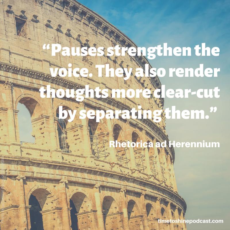pauses voice rhetorica
